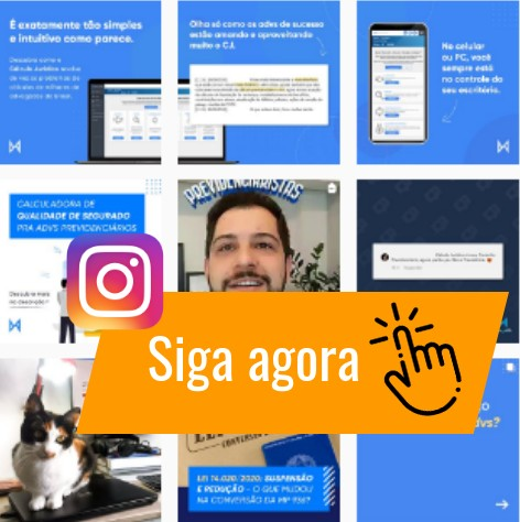 Instagram do CJ - Siga o @calculojuridico